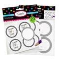 Silver Favor Sticker Labels 20ct