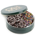 Holiday Chocolate Pretzels Gift Tin