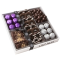 Luscious Lilac - White Leather Chocolate Gift Tray