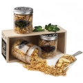 WHOLESOME - Purim Wooden Granola Gift Basket Mishloach Manos