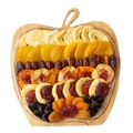 Fresh Dried Fruit Apple Wooden Collapsible Fruit Bowl