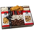 Oh! Nuts Holiday Wooden Chocolate & Popcorn Crate Gift Basket
