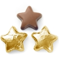 Gold Foiled Milk Chocolate Stars