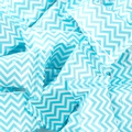 Light Blue Chevron Stripe Wrapped Mints