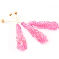 Light Pink Unwrapped Rock Candy Crystal Sticks - Bubble Gum