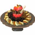 Dried Fruit & Apple Footed Gift Tray