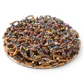Chocolate Pretzel Pie W/Rainbow Lentils - 12 Inch