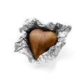 Silver Foiled Milk Chocolate Hearts