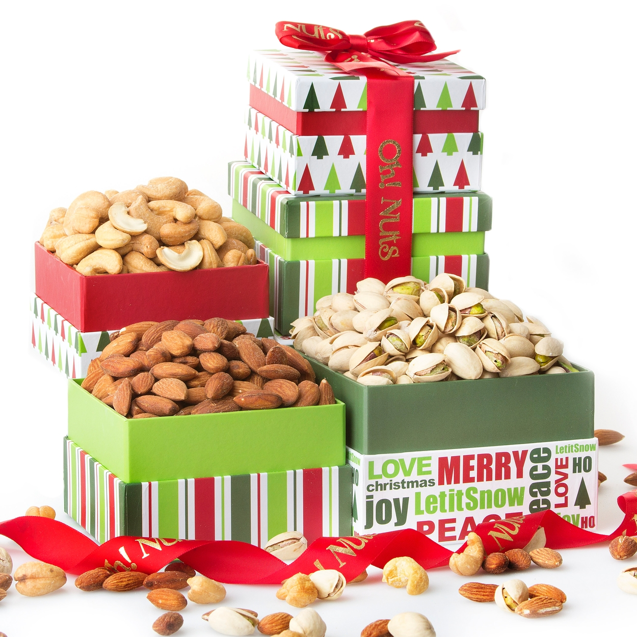 Oh! Nuts® Gourmet Nuts Gift Basket Tower | Christmas Holiday Fresh Gourmet Nut Assortment Gifts for Men Woman or Family u2022 Holiday Nut Gift Baskets ...  sc 1 st  Oh! Nuts & Oh! Nuts® Gourmet Nuts Gift Basket Tower | Christmas Holiday Fresh ...