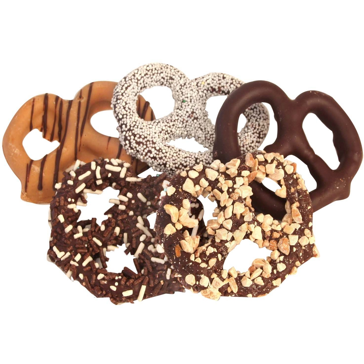 Assorted Chocolate Covered Pretzels - 10CT Box • Chocolate ...