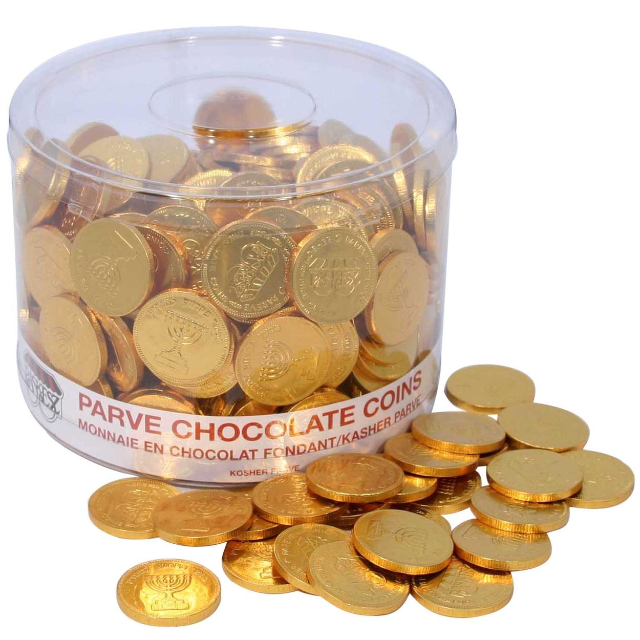 Nut-Free Chocolate Coin Tub - 360 Count • Chanukah Gelt ...