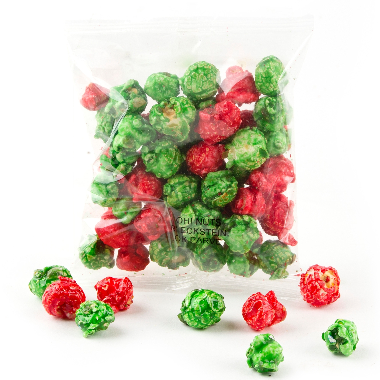 christmas candy coated popcorn snack pack 12 pack gourmet candy coated popcorn bulk candy oh nuts