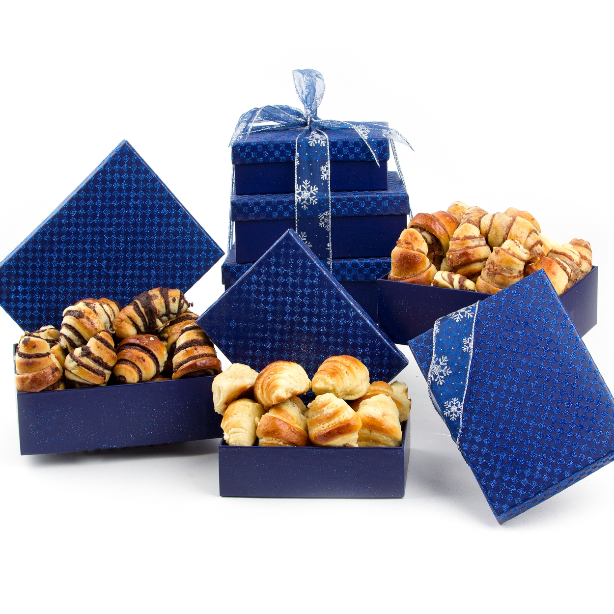 Holiday 3-Tier Rugelach Pastry Gift Tower • Holiday Nut Gift ...