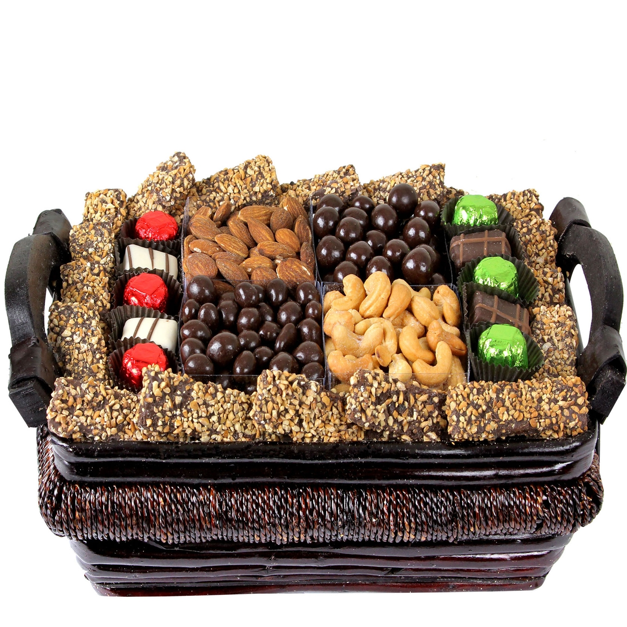 Holiday Gourmet Signature Wicker Basket - Med • Holiday Nut Gift ...