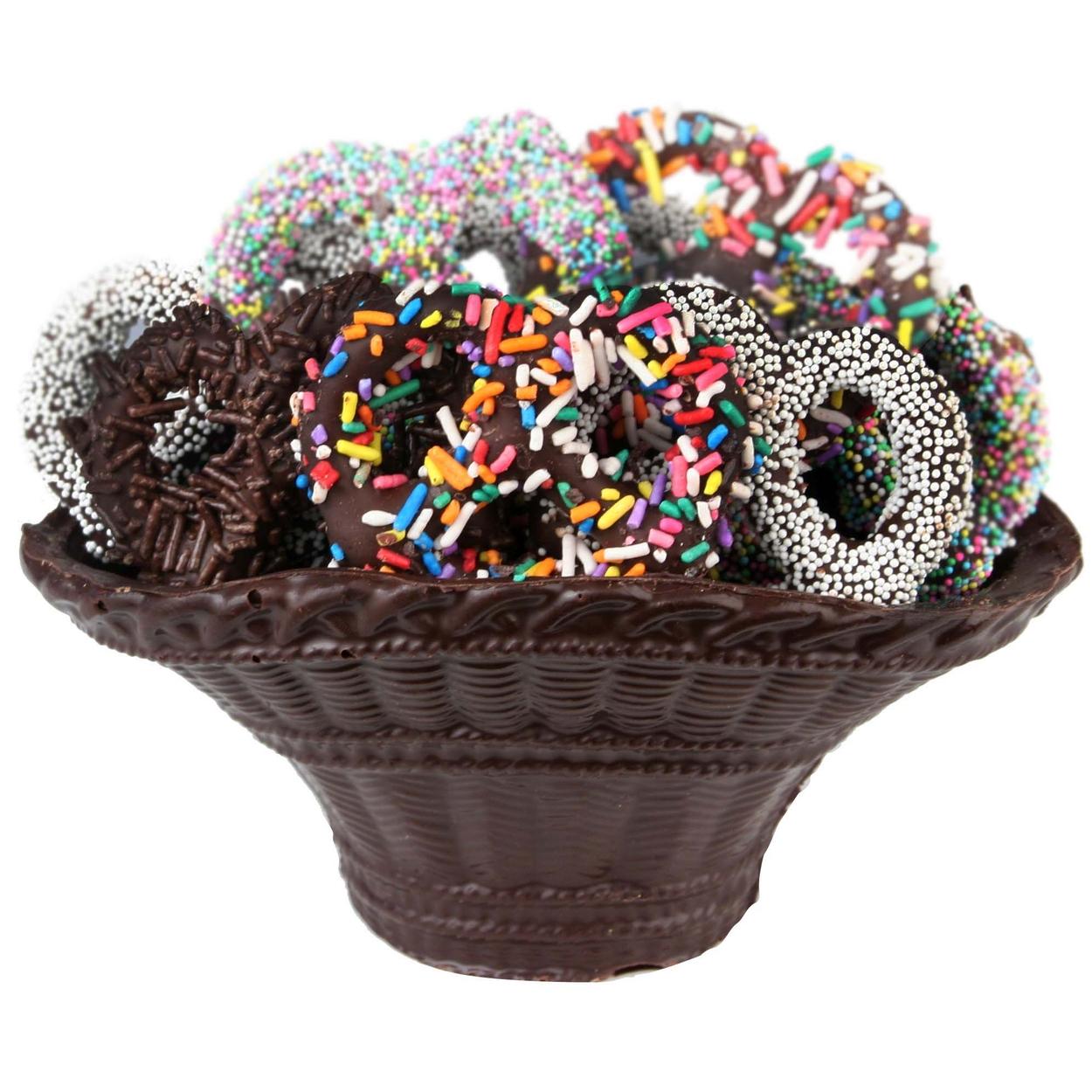 Chocolate Pretzel Dark Chocolate Basket