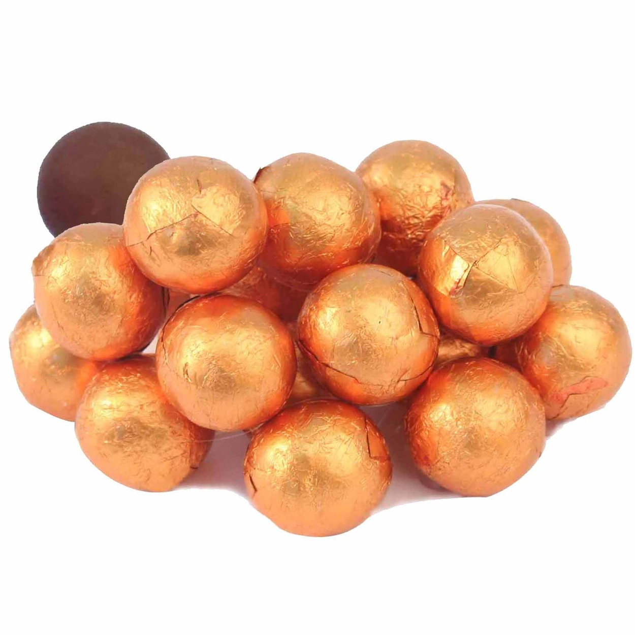 Foiled Milk Chocolate Balls - Buy Bulk by The Pound • Oh! Nuts®