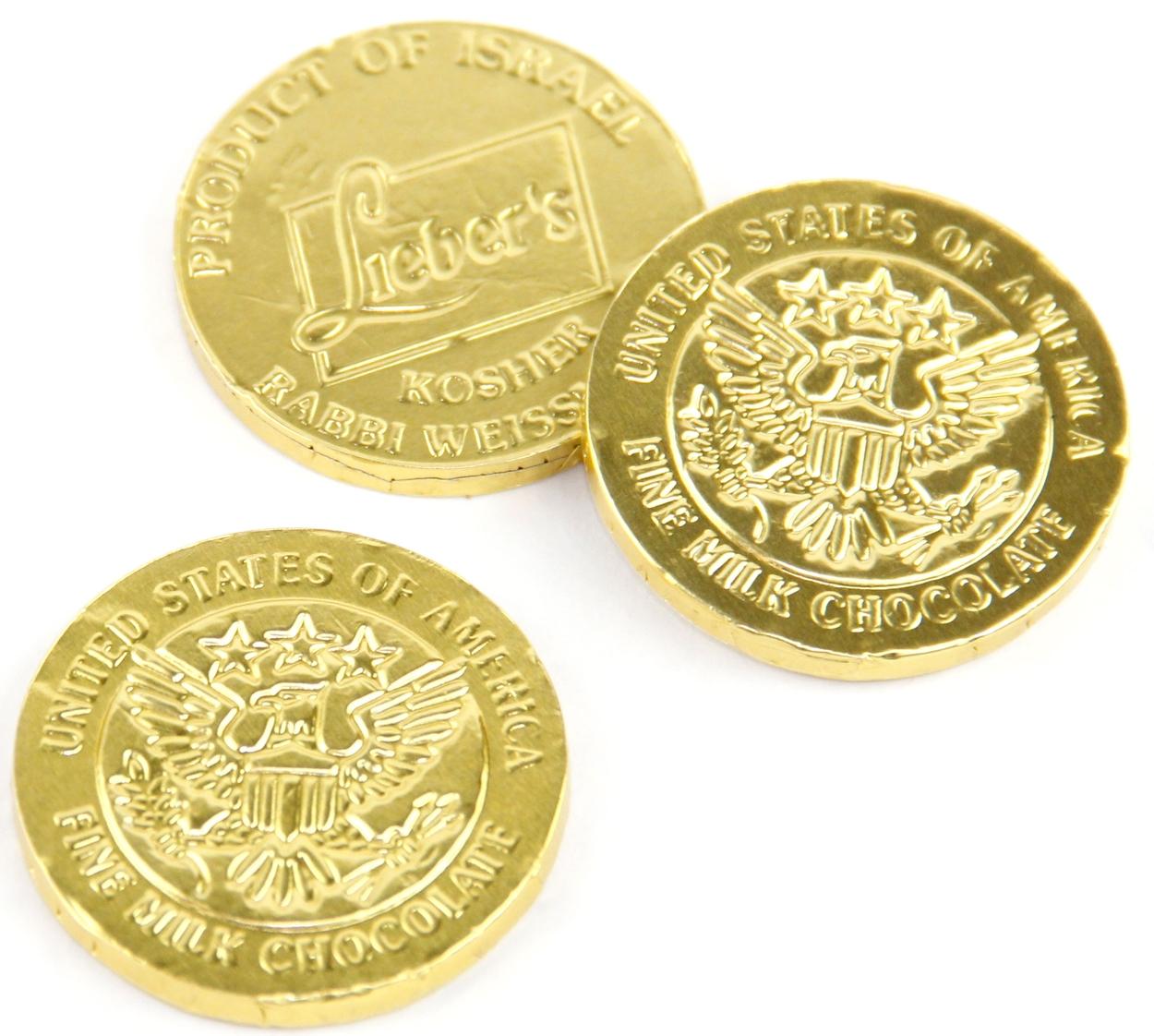Passover Milk Chocolate Coins - 2 oz • Passover Chocolate ...