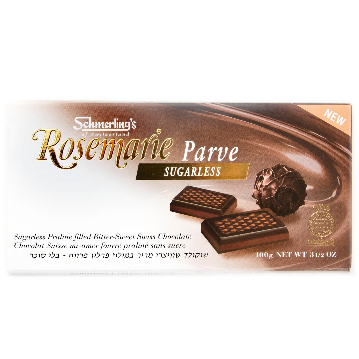 Rosemarie Bittersweet Chocolate Bar - Sugarless • Schmerling's ...