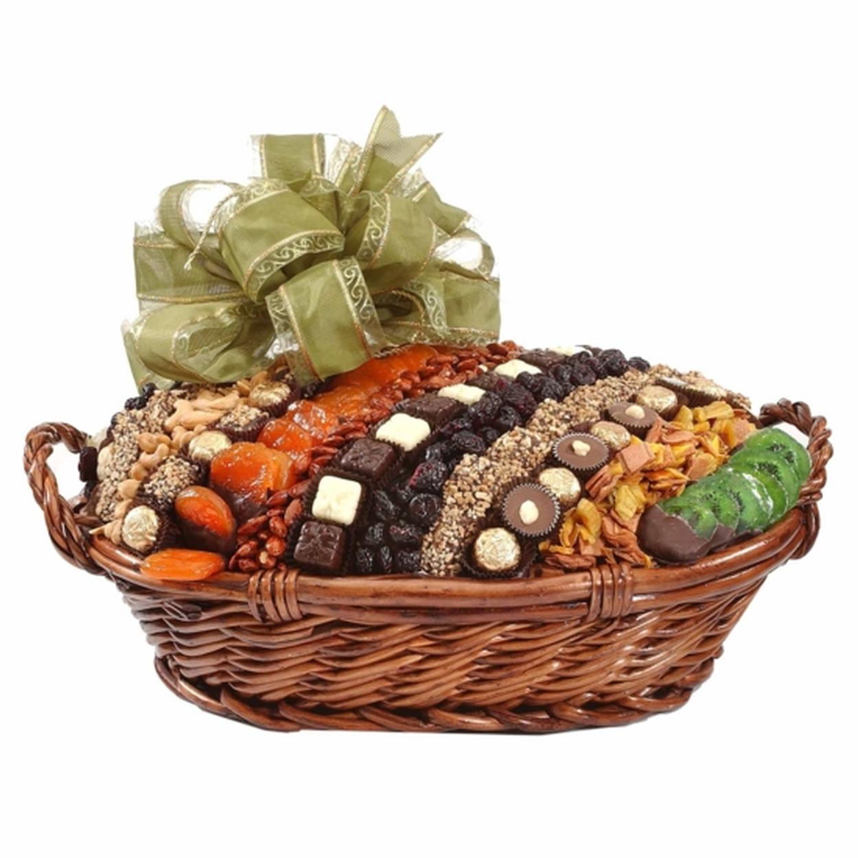 Jumbo Israeli Chocolate, Dried Fruit & Nut Basket - Israel Only