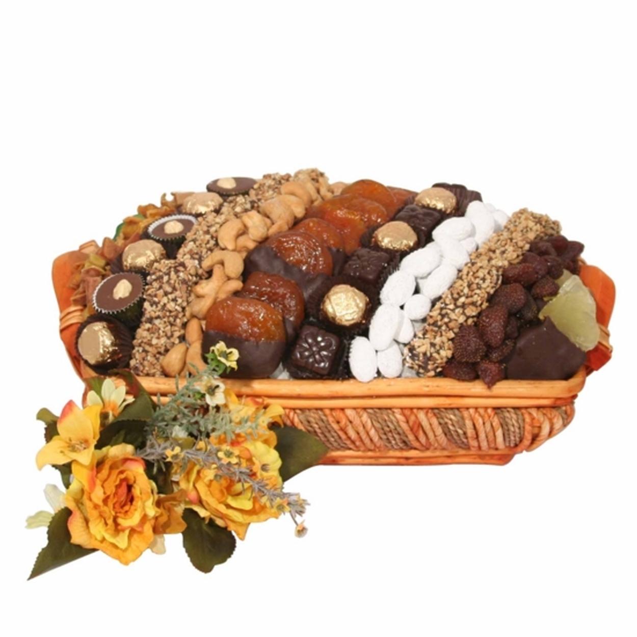 Large Israeli Chocolate, Dried Fruit & Nut Basket - Israel Only