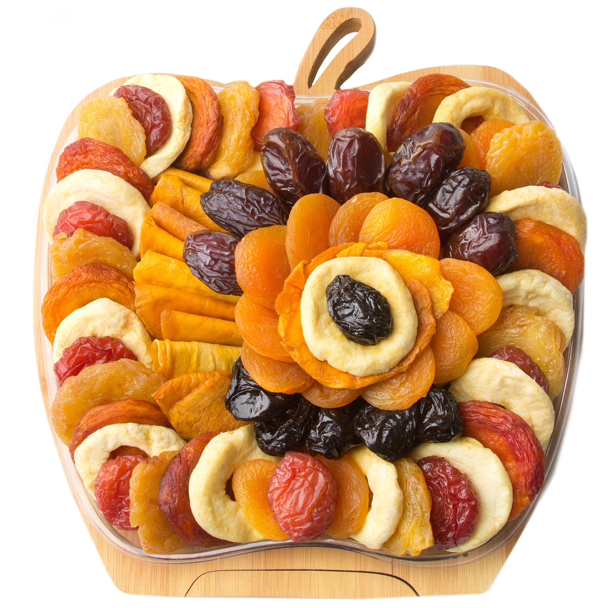 Fresh Dried Fruit Apple Wooden Collapsible Fruit Bowl Dried Fruit