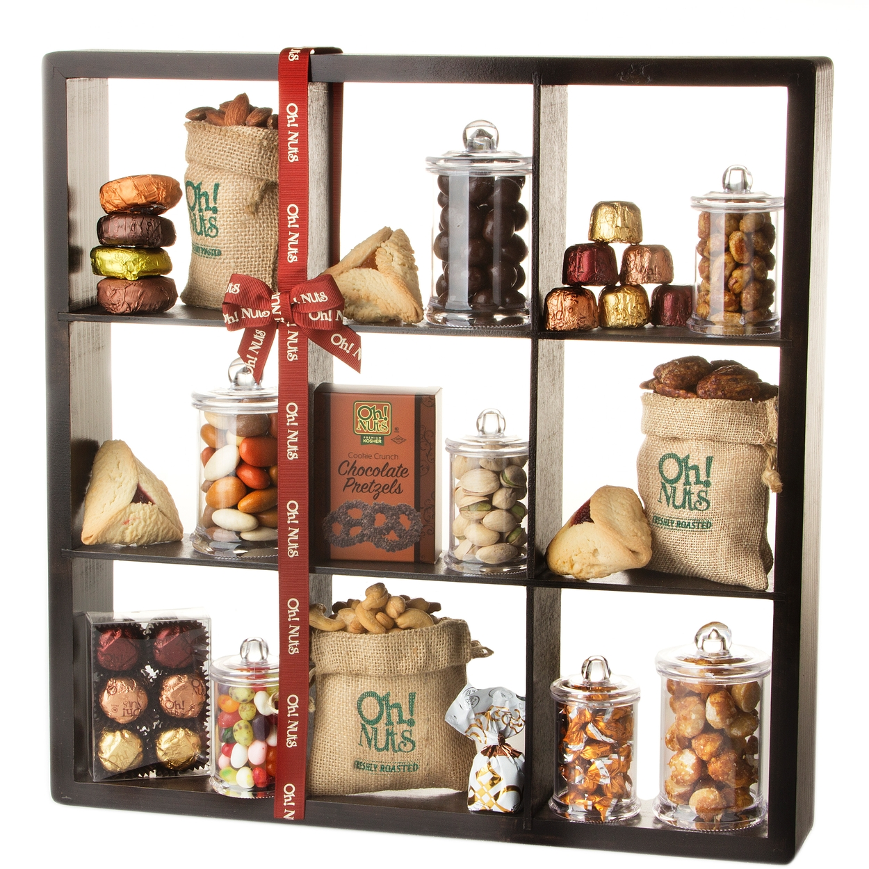 purim shalach manos well appointed 9 shelf display gift