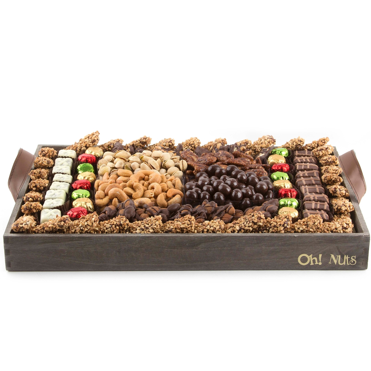 Oh Nuts Gourmet Signature Extra Large Christmas Gift Basket Filled with Nuts and Chocolates