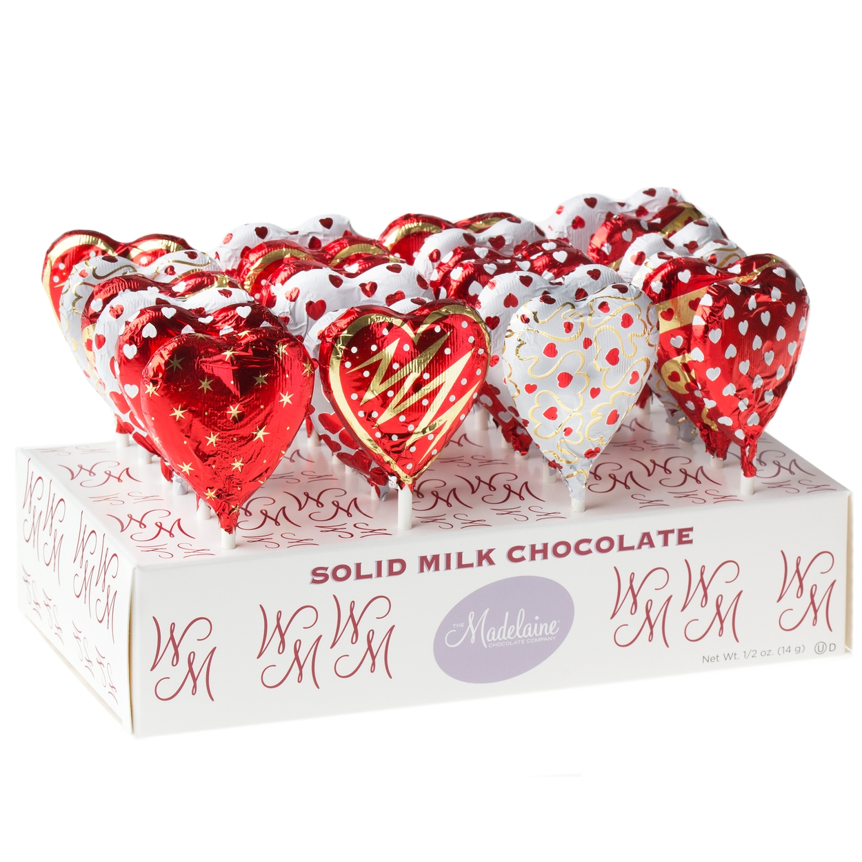 Milk Chocolate Heart Lollipops 24ct Box Wedding Candy Gifts Favors Oh Nuts