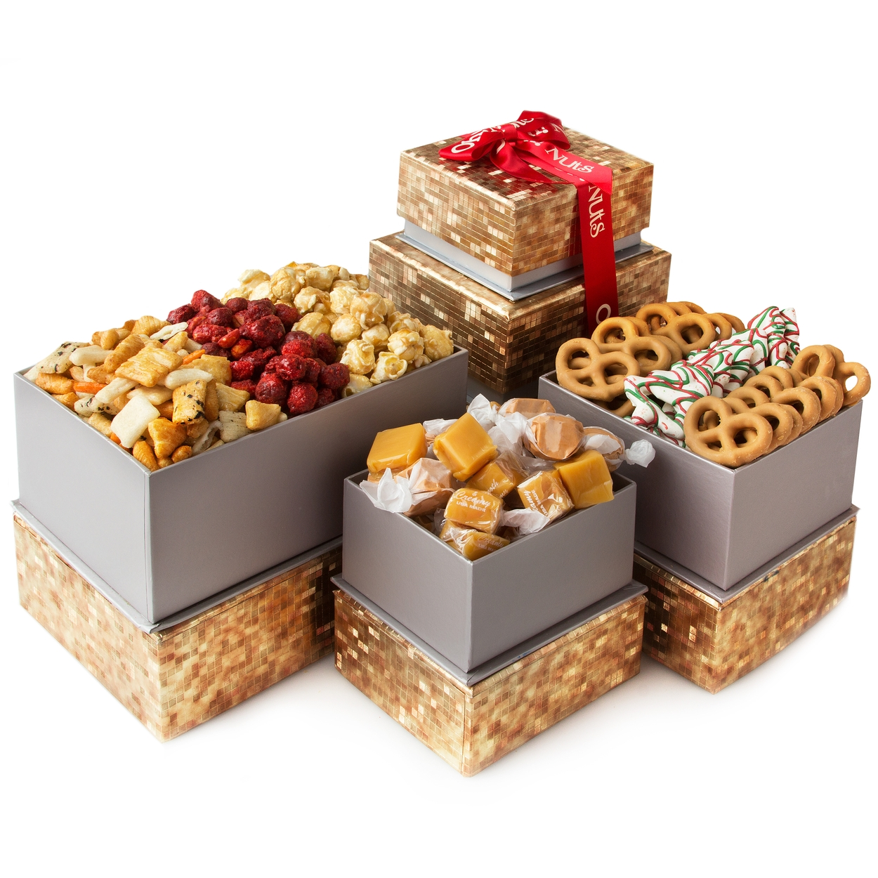 Oh! Nuts® Gift Tower for Christmas Holiday & Thanksgiving, Gourmet ...
