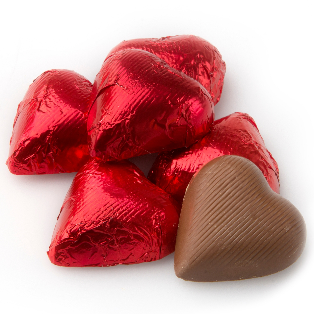 Red Foiled Milk Chocolate Hearts Candy Delights Bulk Oh Nuts