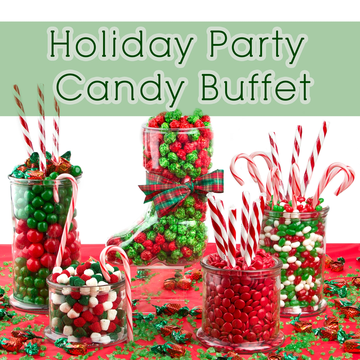 Holiday Family Party Candy Buffet • Holiday Nut Gift Baskets ...