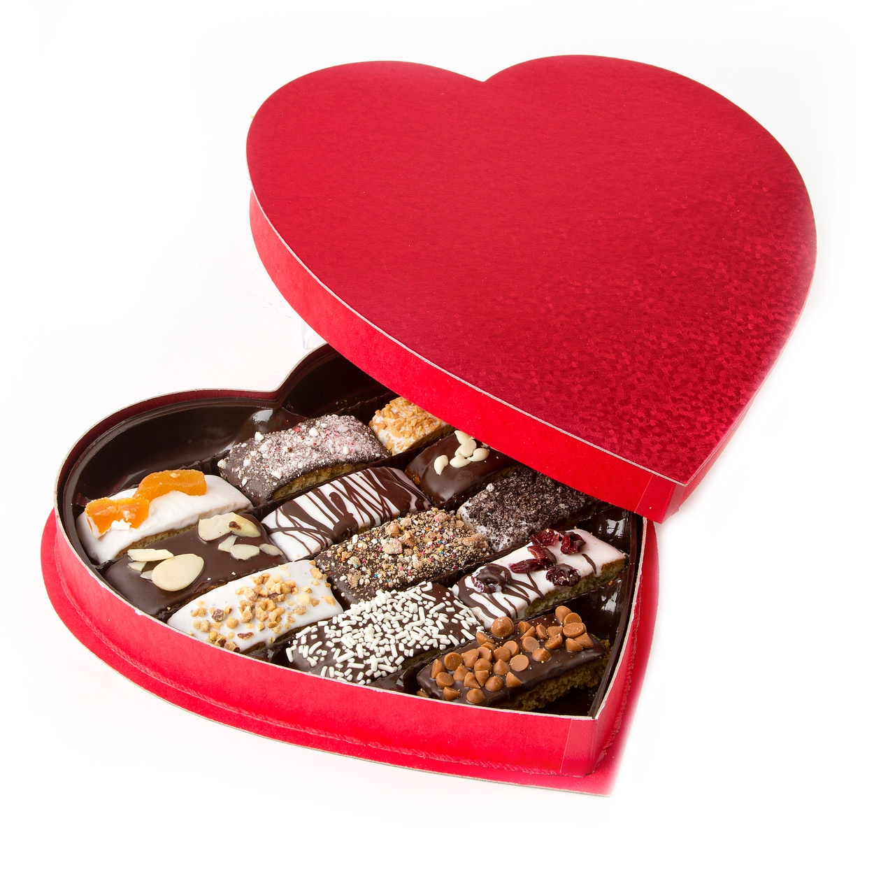 Biscotti Heart Shaped Gift Box • Mother's Day Gifts • Holiday ...