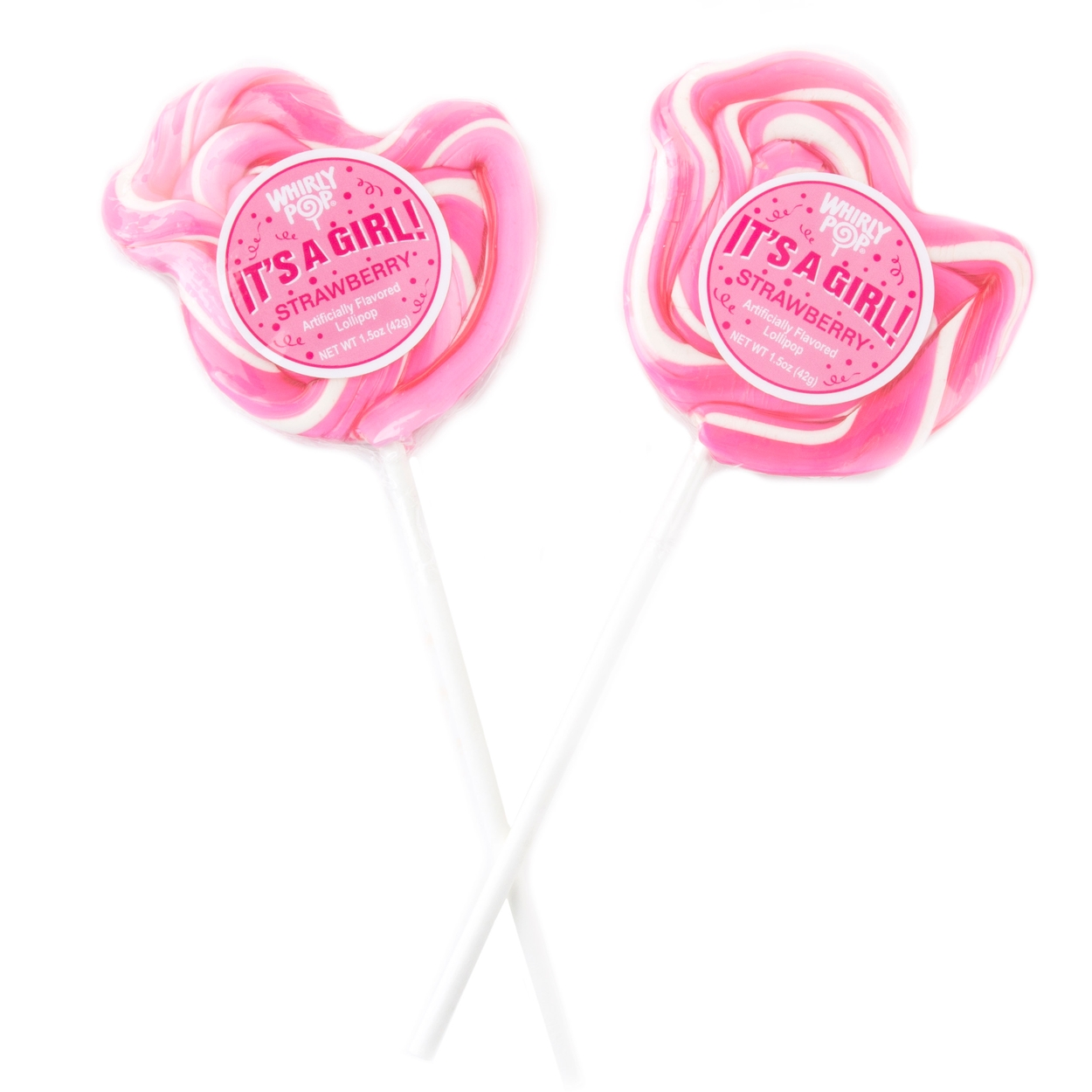 Its A Girl\' Pink Duck Lollipops • New Baby Candy & Favors • New Baby ...