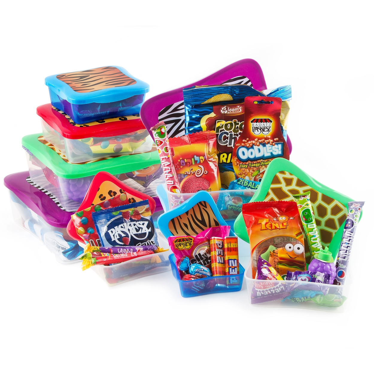 kids purim tower of gift basket shalach manos for
