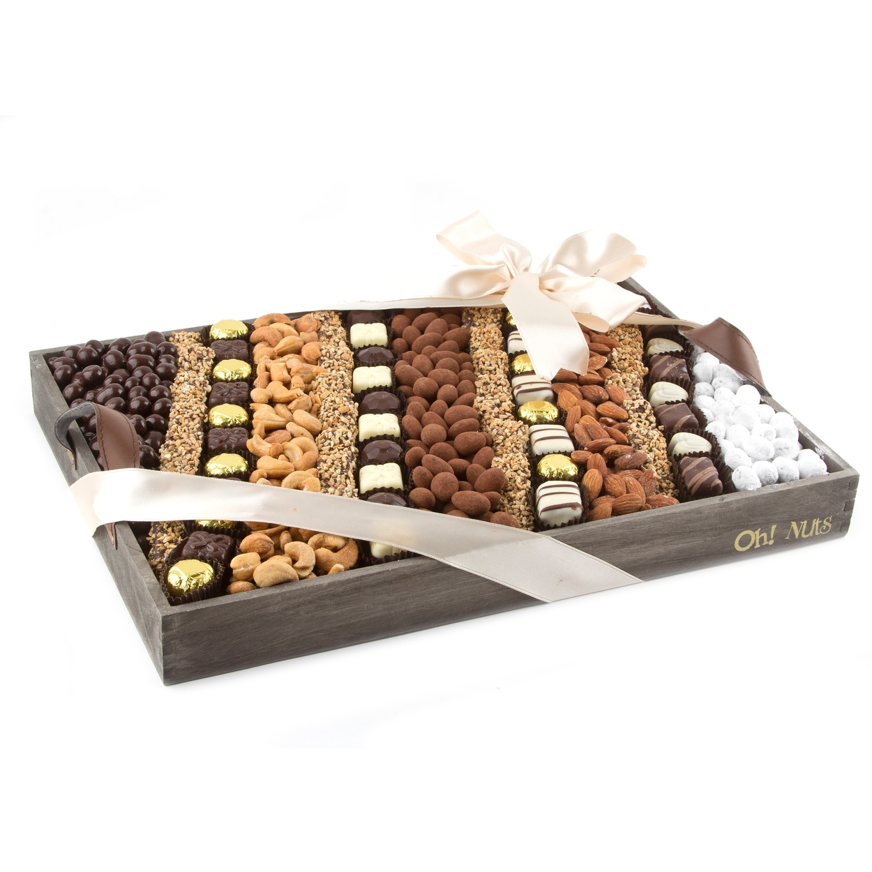 Large Nuts & Chocolate Line-Up Gift Basket • Nuts & Chocolate ...