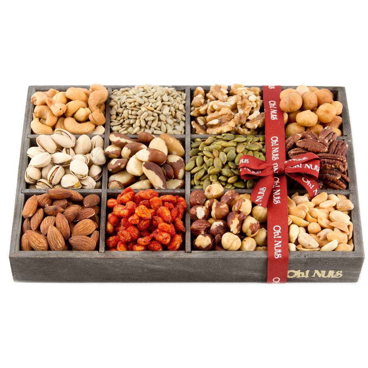 Holiday gift baskets mixed nuts gift baskets and seeds valentines holiday gift baskets mixed nuts gift baskets and seeds valentines or mothers day gift tray 12 variety gift baskets freshly roasted snack healthy gift box negle Images