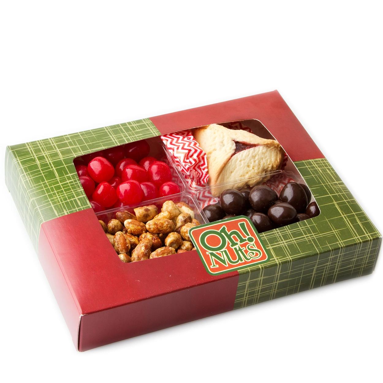 classic purim array 5 variety shalach manos gift box purim