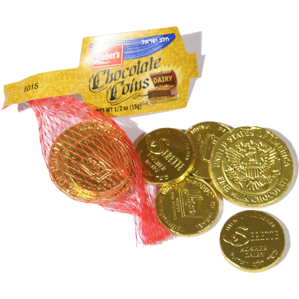 Milk Chocolate Gold Foil Coins (Kosher for Passover) • Passover ...