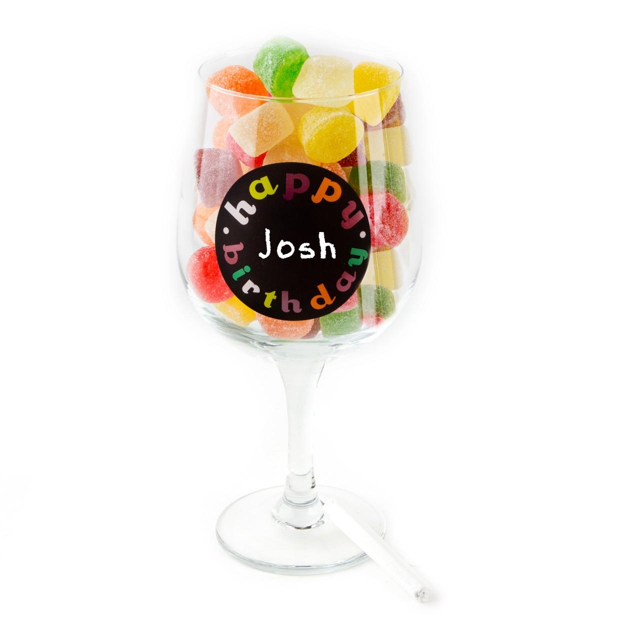 Oversized Birthday Wine Glass With Chalk