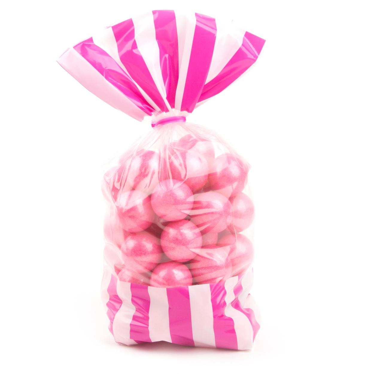 Hot Pink Striped Favor Bag - 10CT • Favor Bags • Candy Buffet ...