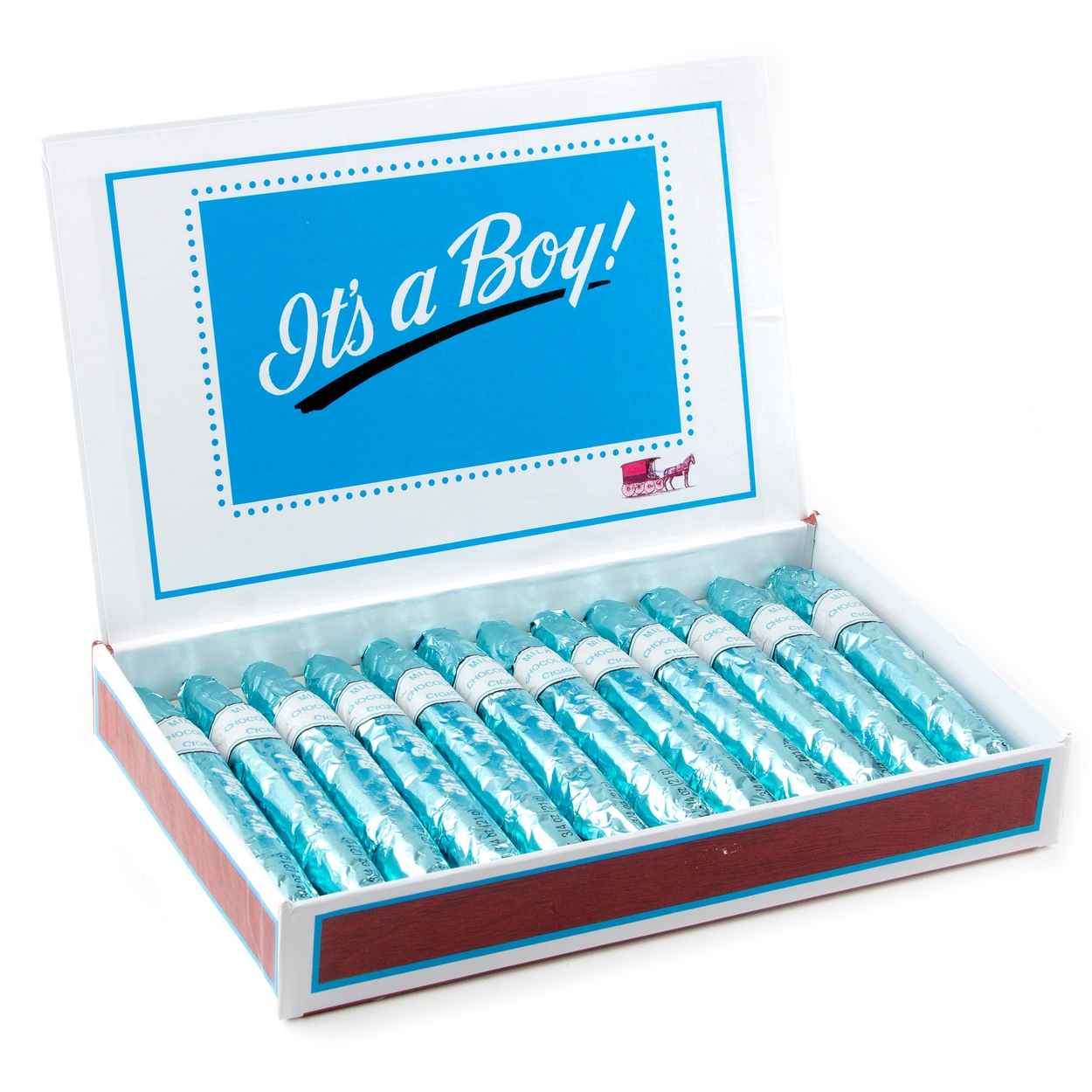 Baby Boy Milk Chocolate Cigars - 24CT Box • Party Favors • Party ...