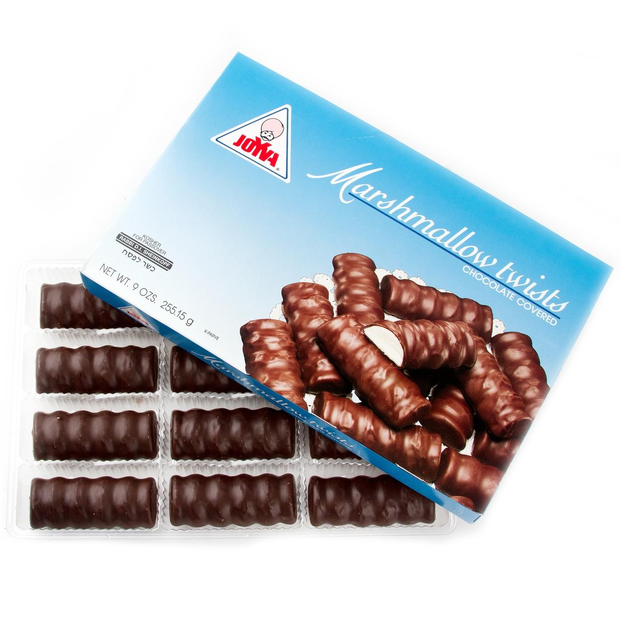 Passover Joyva Chocolate Covered Marshmallow Twists - 9 OZ Box ...