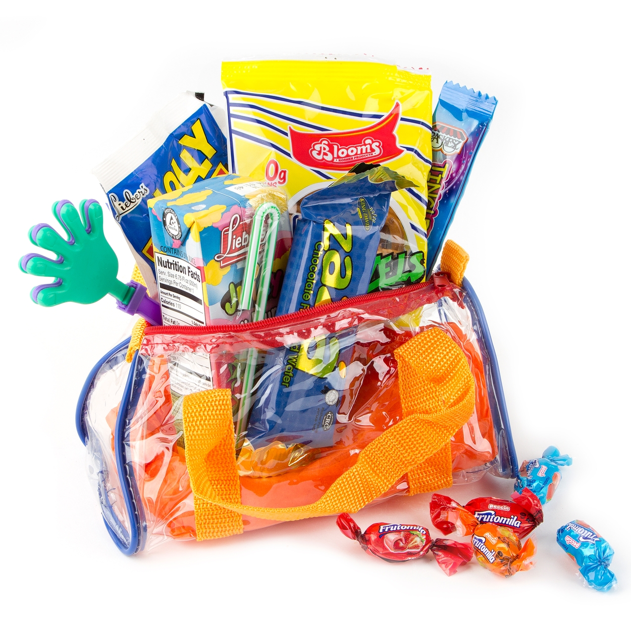 kids colorful clear purim gift bag 3 pack purim baskets