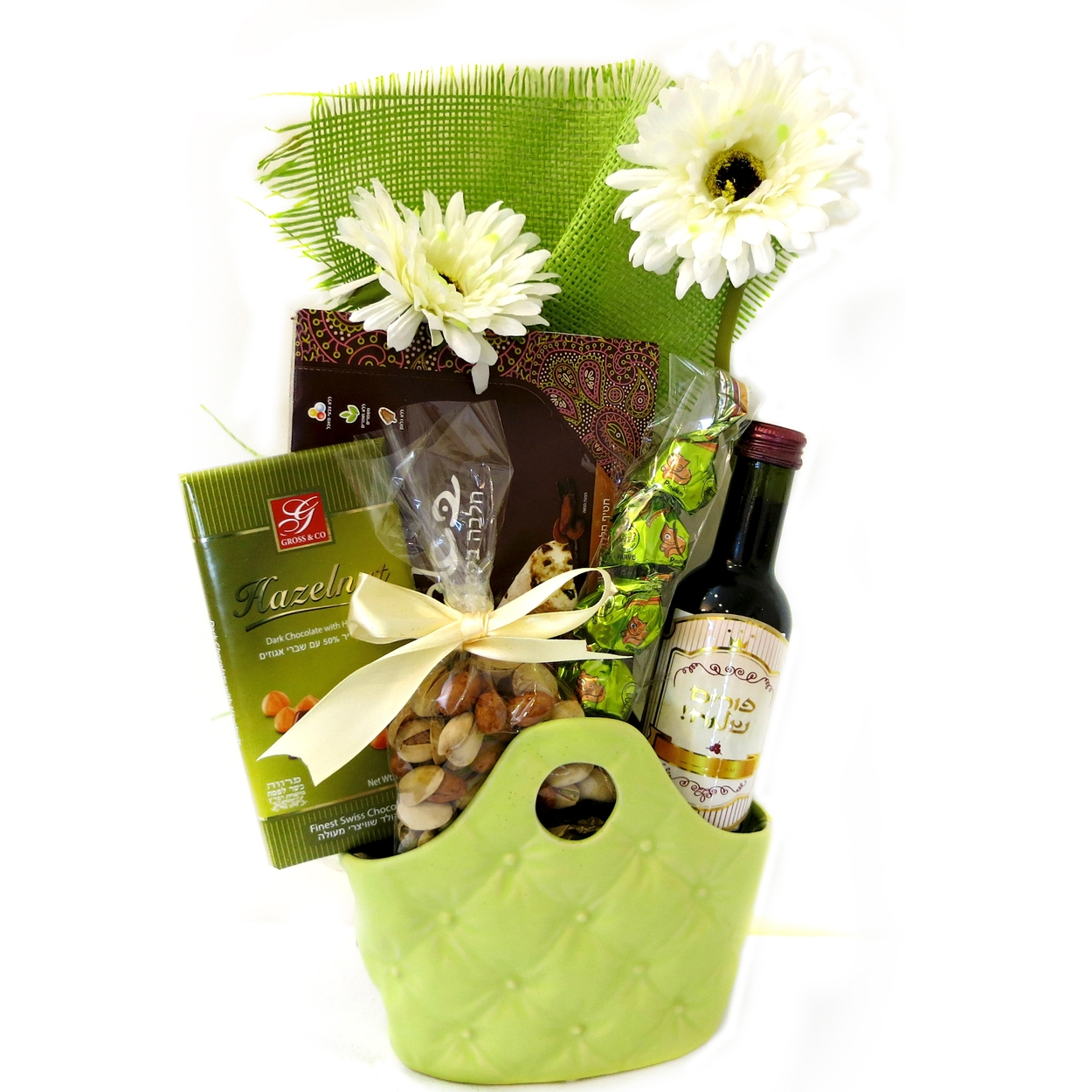 green basket perfection israel only purim baskets mishloach