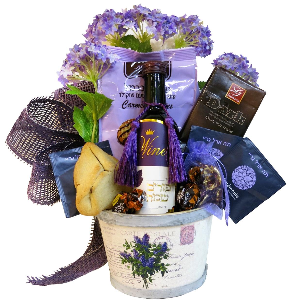 i violet purim basket israel only purim baskets