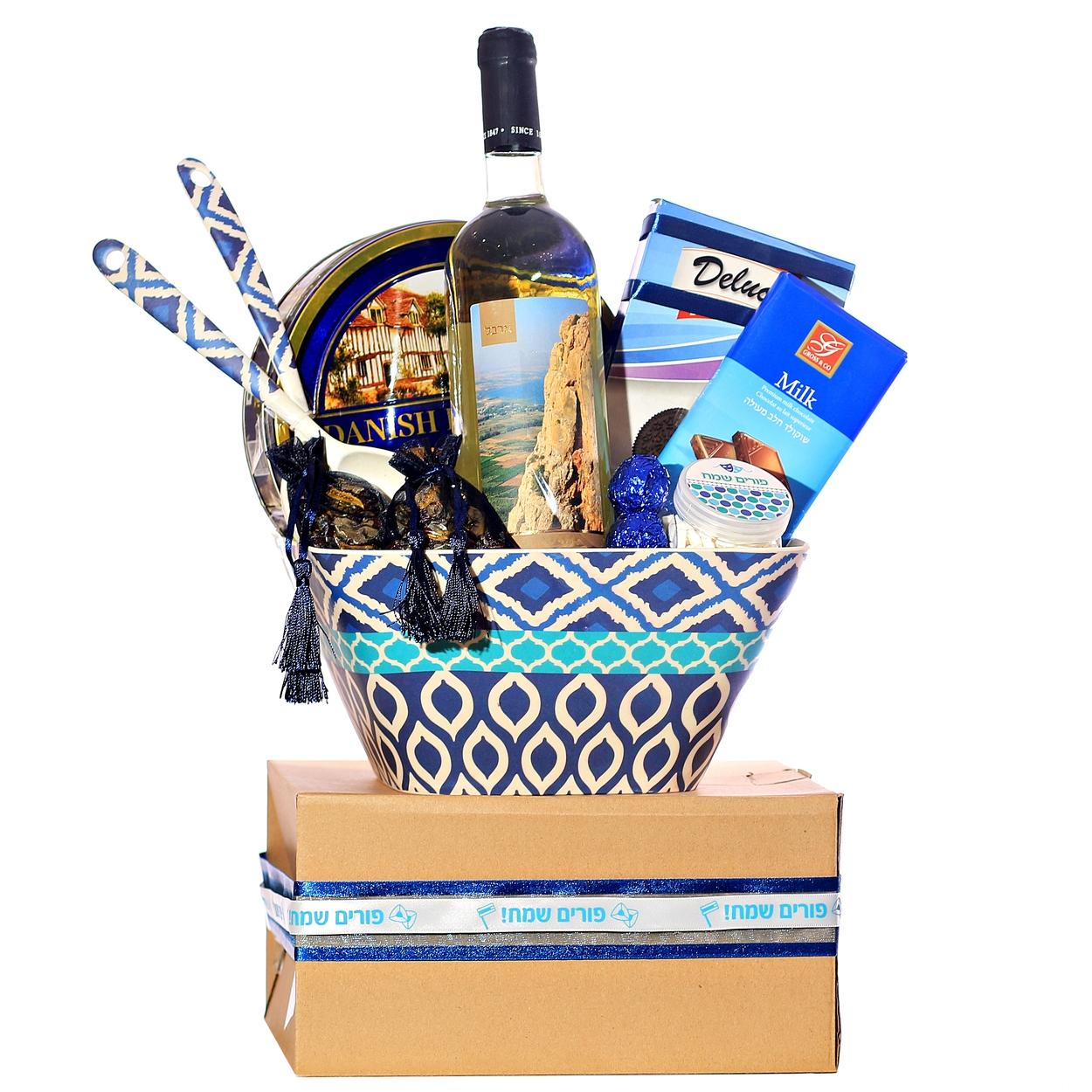 purim salad dish gift basket israel only purim baskets