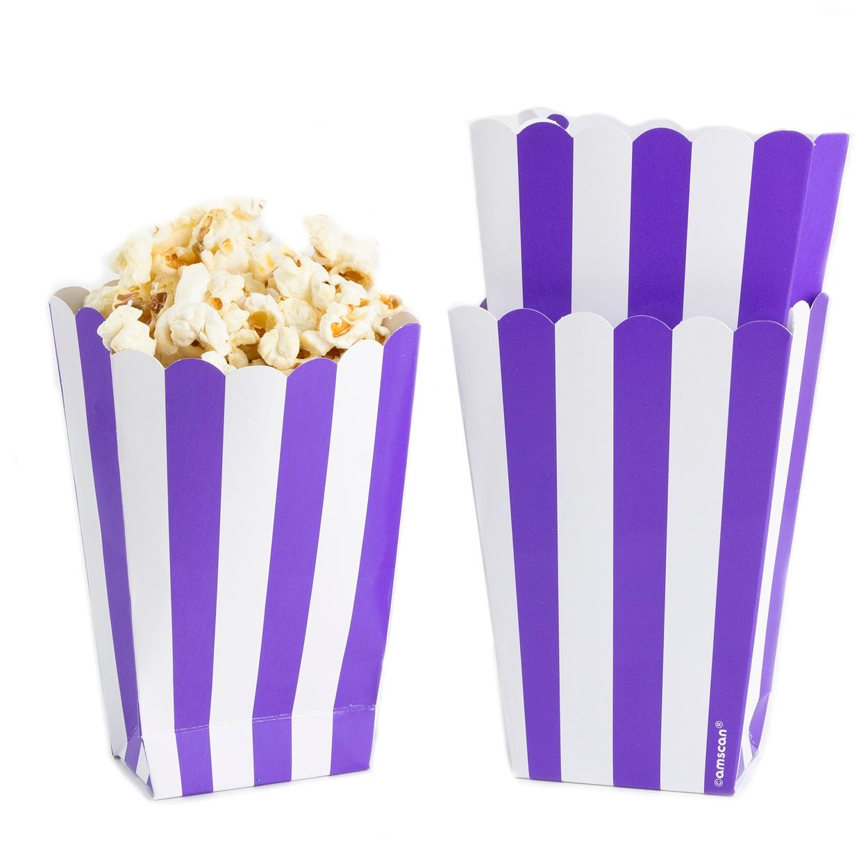 Purple Popcorn Box - 5CT • Candy Buffet Supplies • Bulk Candy • Oh ...