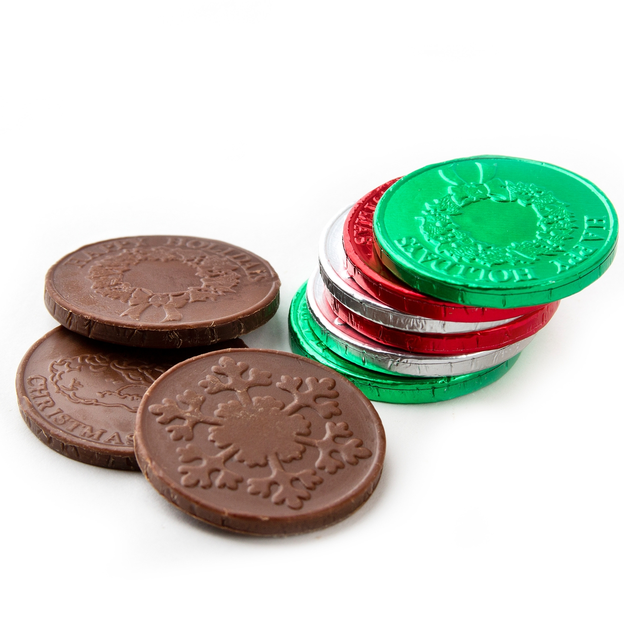 Holiday Milk Chocolate Coins • Christmas Candy & Chocolate ...
