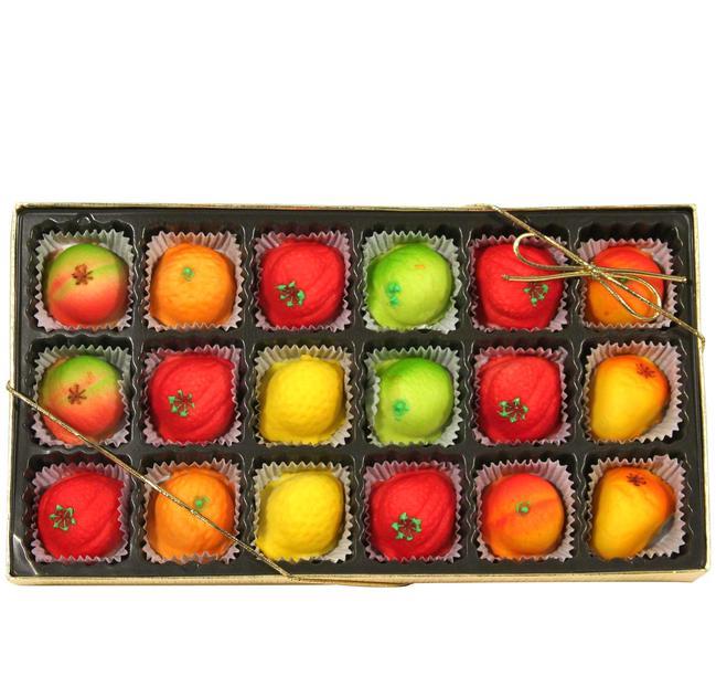 Marzipan Fruits Gift Box 18-piece Marzipan Fruit Box