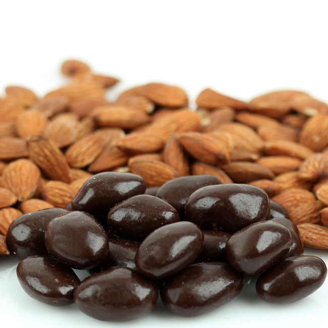 Dark Chocolate Covered Almonds • Chocolate Covered Nuts ...